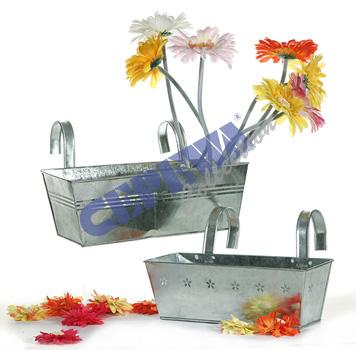Pflanzkasten<br> Springflower,<br>Zink, eckig