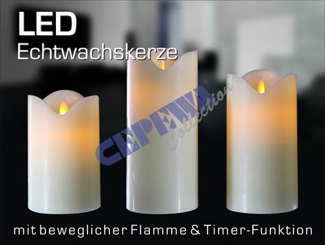 led kaars met bewegende vlam ivoor uit groothandel en import. Black Bedroom Furniture Sets. Home Design Ideas
