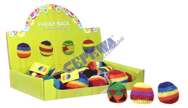 Hacky Sack,<br>sortiert, 6cm d