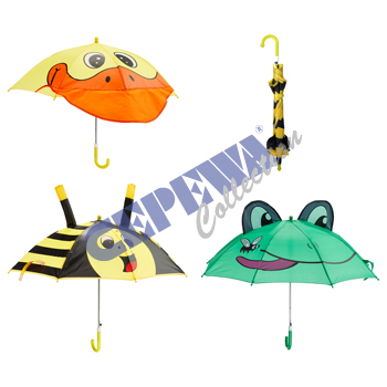 "Children umbrella ""Animal"", 3 assorted"