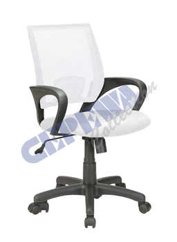 "Office chair ""Basic"", white, height adju"