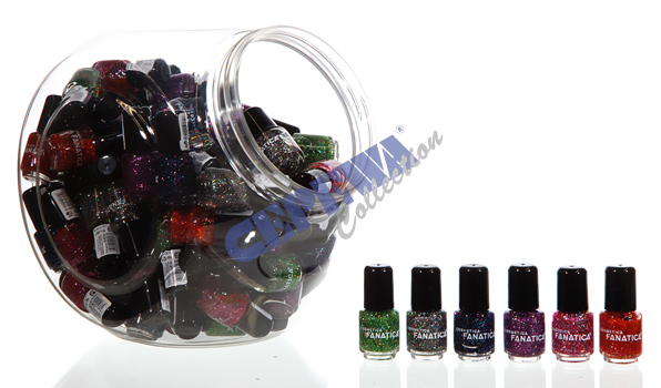 "Nail polish ""Glitter"", 5 ml sorted,"