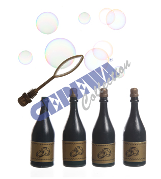 Soap bubbles<br> champagne bottle,<br>Set of 4