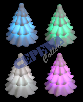 LED tree with<br>color changing