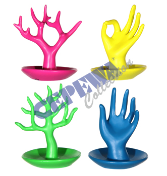 Jewelry holder,<br>colored, 4 assorted
