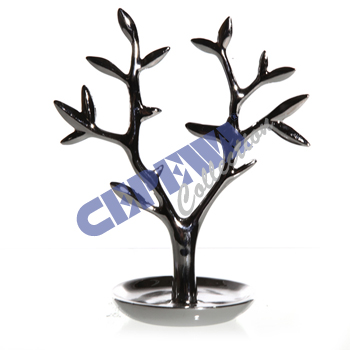 Jewelry holder<br>  tree , silver,<br>approx 21cm