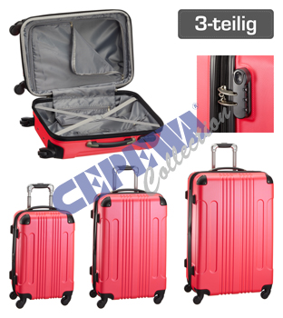 Trolley Kofferset<br>Style, 3tlg, pink