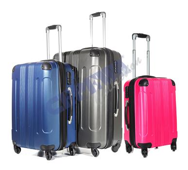Trolley Kofferset<br>Style, 3tlg, blau