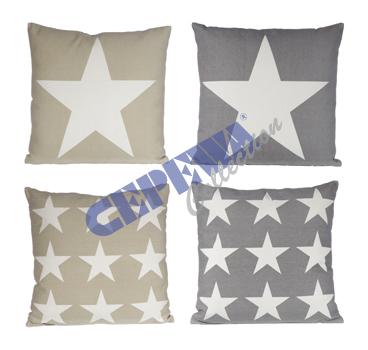 Kissen Stars,<br>4-fach sortiert
