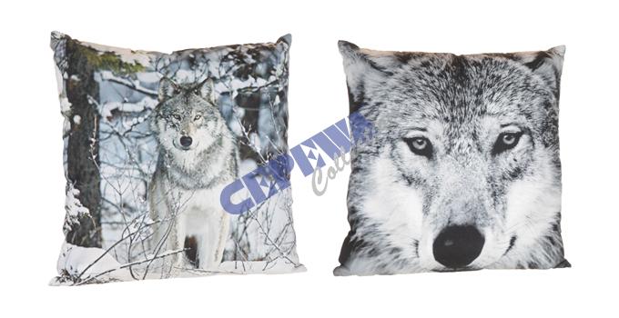 Kissen Wolf,<br>2-fach sortiert