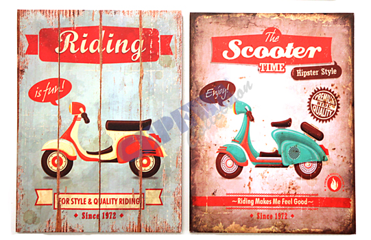 Sorted Retro<br> Canvas scooter,<br>2-fold