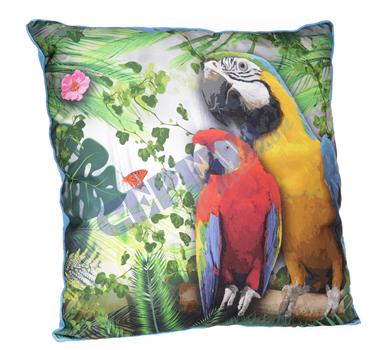 Deko-Kissen<br> Papagei, ca.<br>39x39 cm
