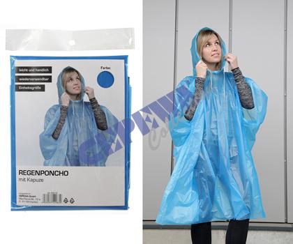 Deszcz poncho,<br>sortowane 2-krotnie