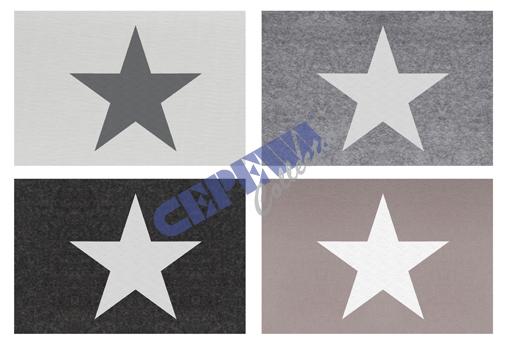Platzmatte Filz<br>Stars, sortiert