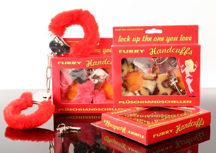 Handschellen<br> Plüsch in<br>Geschenkbox
